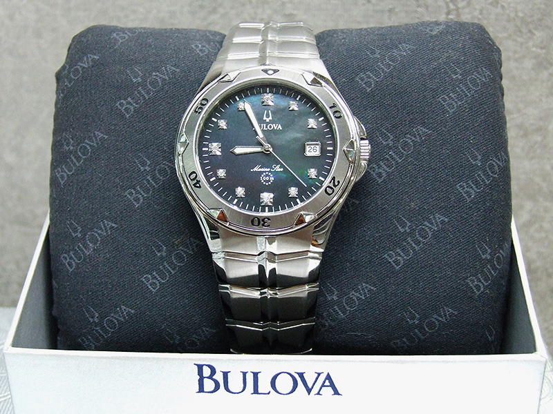 Gents Bulova Watch w Diamonts